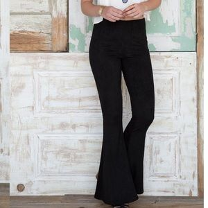 Super Flare Suede Feel Pants